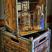 Milk Bottles And Crates Poster