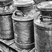 Milk Cans Poster