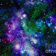 Milky Way Abstract Poster
