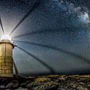 Milky Way Over Marshall Point Poster