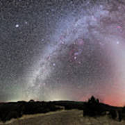 Milky Way, Zodiacal Light And Other Poster