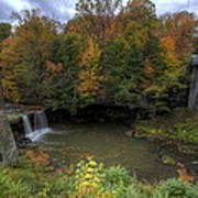 Mill Creek Park In Autumn Poster