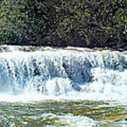 Mill Shoals Waterfall During Flood Stage Poster