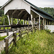 Millers Run Covered Bridge Poster by Edward Fielding