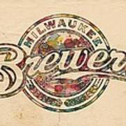 Milwaukee Brewers Poster Vintage Poster