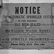 Milwaukee Water Works Poster