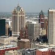 Milwaukee Wisconsin Skyline Aerial Poster