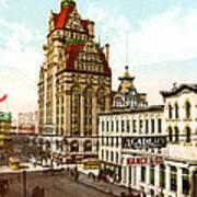 Milwaukee's Wisconsin Street 1899 Poster