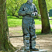Mime In A Park In Tallinn-estonia Poster