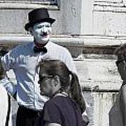 Mime In Venice Poster