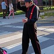 Mime Performer On The Street Poster