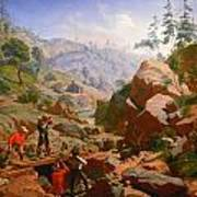 Miners In The Sierras Poster by Charles Nahl