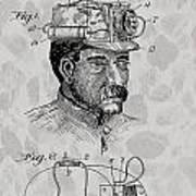 Miner's Lamp Patent Poster