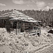 Miner's Shack - Comet Ghost Mine - Montana Poster