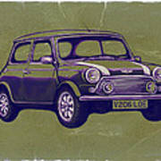 Mini Cooper - Car Art Sketch Poster Poster
