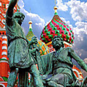 Minin And Pozharsky Monument In Moscow Poster by Oleksiy Maksymenko
