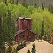 Mining Building In Colorado Poster