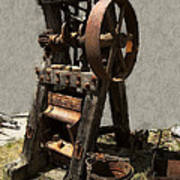 Mining Portable Stamp Mill Poster by Daniel Hagerman