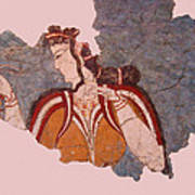 Minoan Wall Painting Poster