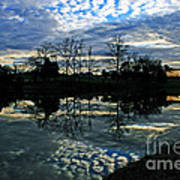 Mirror Image Clouds Poster