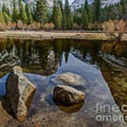 Mirror Lake Threesome Yosemite Poster