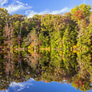 Mirror Reflections Of Fall Poster