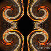 Mirrored Abstract Poster