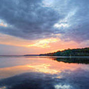Mirrored Sunset Poster