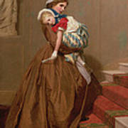 Miss Lilys Return From The Ball, 1866 Poster