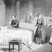 Miss Nightingale In The Hospital Poster