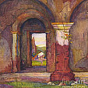 Mission Of San Juan Capistrano By Rowena Meeks Abdy 1887-1945  Poster