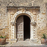 Mission San Jose Chapel Entry Doorway Poster by John Stephens