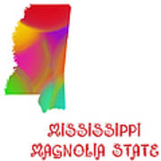 Mississippi State Map Collection 2 Poster