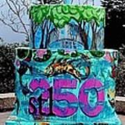 Missouri Botanical Garden Stl250 Birthday Cake Poster