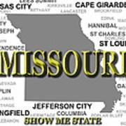 Missouri State Pride Map Silhouette  Poster