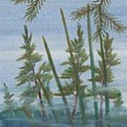 Mist In The Marsh Poster by Robert Meszaros
