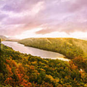 Misty Morning At Lake Of The Clouds Poster