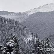 Misty Pikes Peak Poster