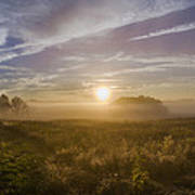 Misty Sunrise At Valley Forge Poster