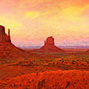 Mittens Sunset Poster