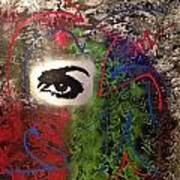 Mixed Media Abstract Post Modern Art By Alfredo Garcia Eye See You 2 Poster