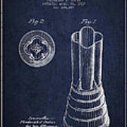 Mixer Patent From 1937 - Navy Blue Poster