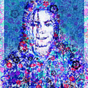 Mj Floral Version 2 Poster