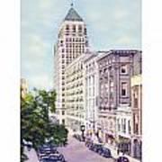 Mobile Alabama - North On St. Joseph Street - Merchants National Bank - 1937 Poster