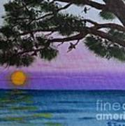 Mobile Bay Sunset Poster