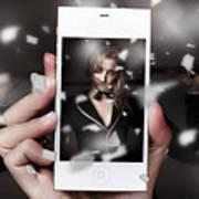 Mobile Phone Capturing A Broadway Cabaret Show Poster