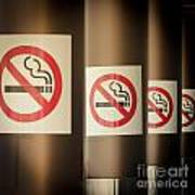Mobile Photography Toned Row Of No Smoking Signs Poster