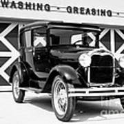 Model A Black And White Poster