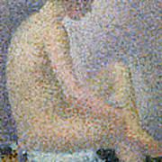 Model In Profile Poster