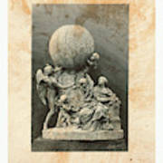 Model Of A Statue Dedicated To French Balloonists Poster